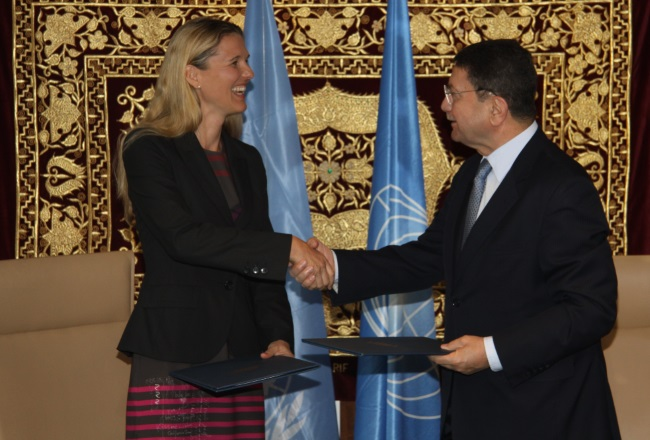 UNWTO Secretary-General, Taleb Rifai, and the Director of GIFT, Professor Susanne Becken