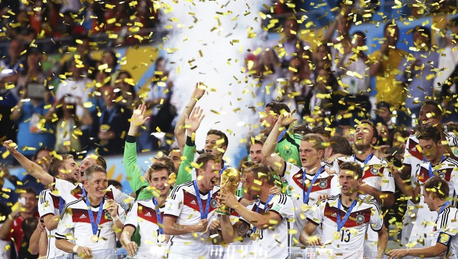 Germany: world champions for the fourth time. EPA/Antonio Lacerda